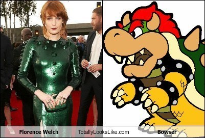 Florence Welch Totally Looks Like Bowser