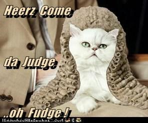 Heerz  Come da  Judge ..oh  Fudge !