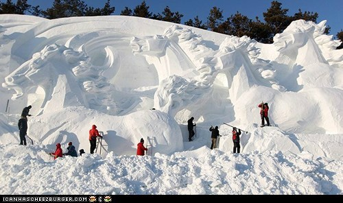 Snow horses...