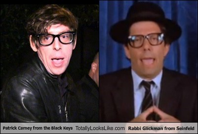 Patrick Carney from the Black Keys Totally Looks Like Rabbi Glickman from Seinfeld
