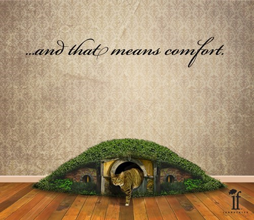 Conceptual Hobbit Hole Litter Box: An Unexpected Poop