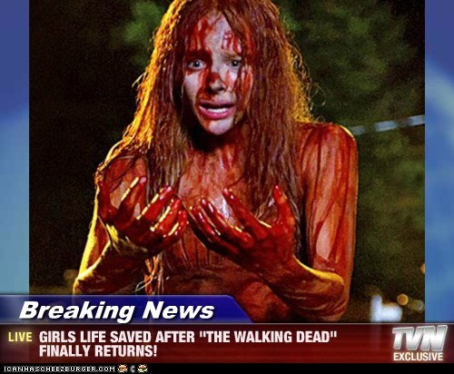 "Breaking News - GIRLS LIFE SAVED AFTER ""THE WALKING DEAD"" FINALLY RETURNS!"