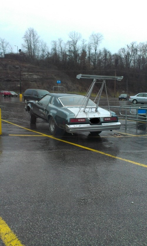 What you see in a Wal-mart parking lot