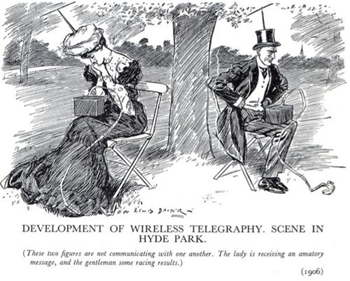 Cartoon of the Day: Wireless Hotspot in Hyde Park circa 1906