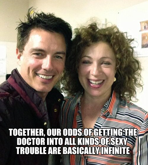 alex kingston,Captain Jack Harkness,the doctor,doctor who,trouble,River Song,john barrowman