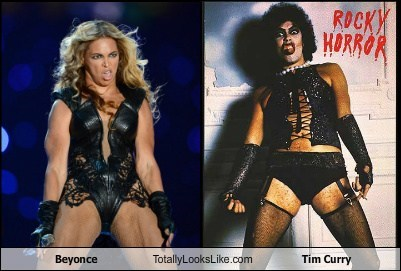 Beyonce Totally Looks Like Tim Curry