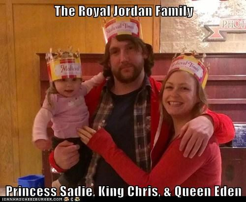 The Royal Jordan Family  Princess Sadie, King Chris, & Queen Eden