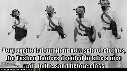 gas masks,tusken raiders,star wars,tattooine