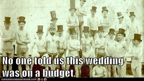 No one told us this wedding was on a budget.