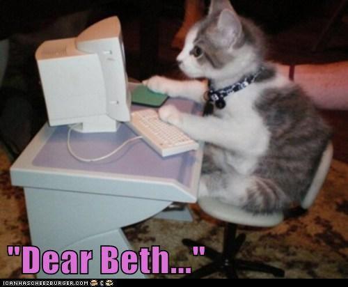 """""""Dear Beth..."""""""
