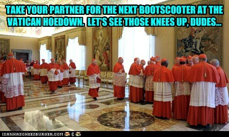 Bootscootin geezers in dresses...