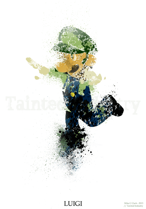 fan art,luigi,video games