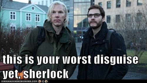 benedict cumberbatch,disguise,julian assange,Sherlock,worst