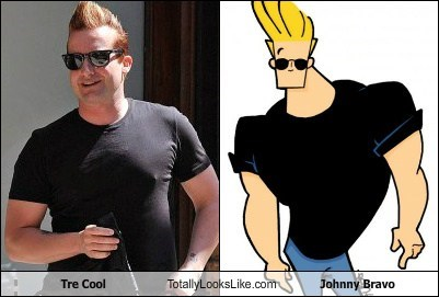 Tre Cool Totally Looks Like Johnny Bravo