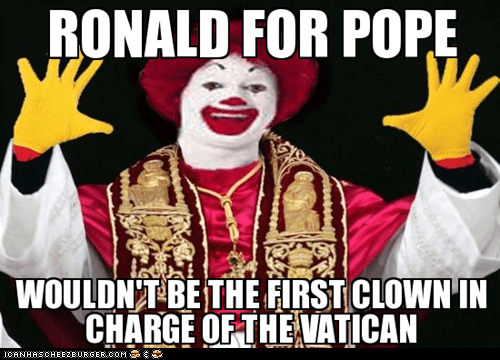 Ronald For Pope