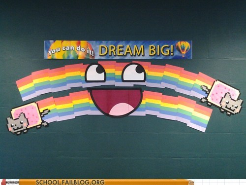 Told to Put a Dream Big Banner Up in Class