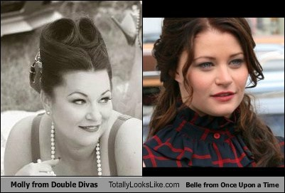 Molly from Double Divas Totally Looks Like Belle from Once Upon a Time