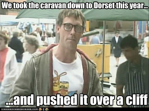 We took the caravan down to Dorset this year...
