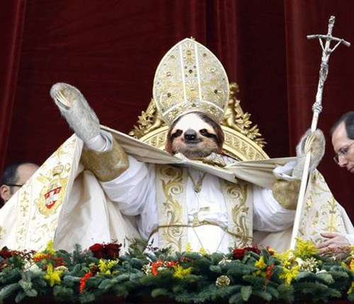 replacement,shopped pixels,pope,sloth