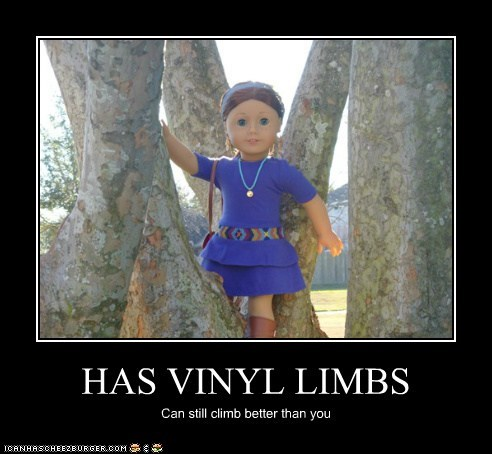 HAS VINYL LIMBS