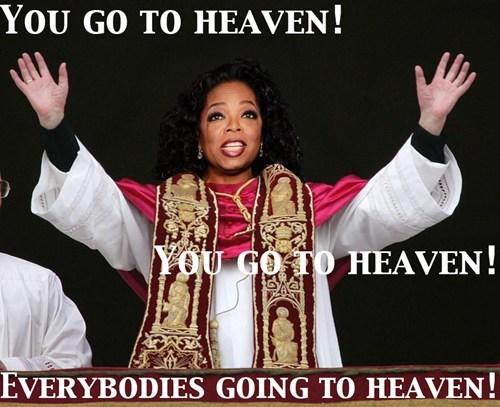 you get an x,pope,oprah