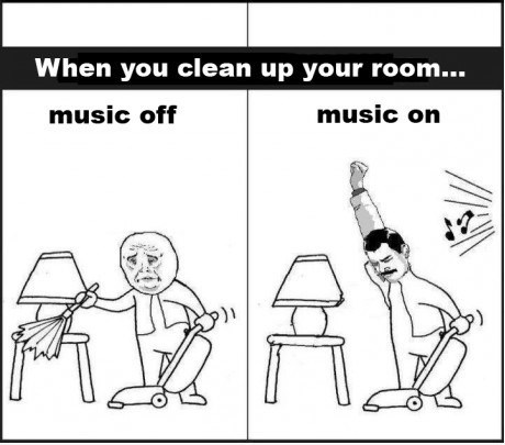 cleaning,Music,comics,upgrades