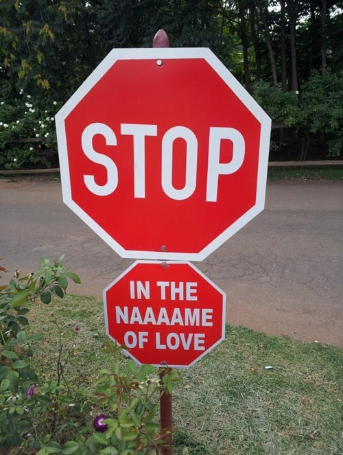 song,stop sign