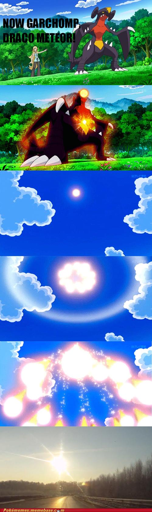 Garchomp used Draco Meteor