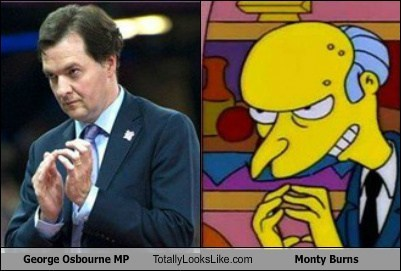 George Osbourne MP Totally Looks Like Monty Burns