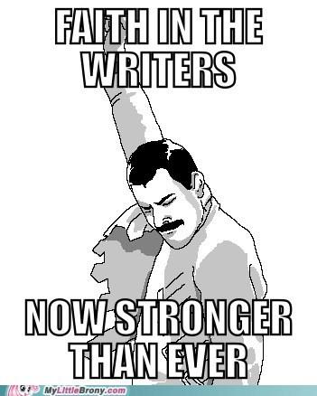 Faith in the MLP writers enhanced