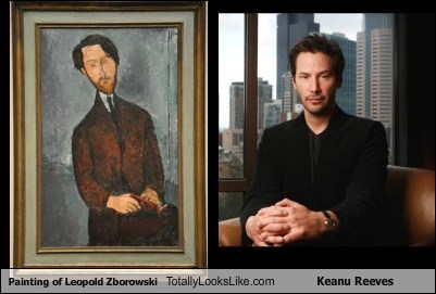 Painting of Leopold Zborowski Totally Looks Like Keanu Reeves