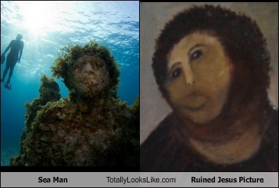 Sea Man Totally Looks Like Ruined Jesus Picture