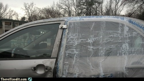 door fix,south carolina,car door,plastic wrap