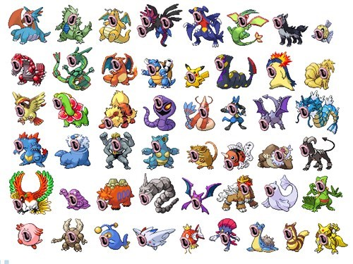 All the Pokémon You Love Looking Very Excited