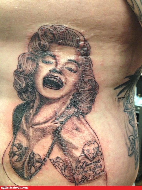 I Don't Remember Dame Edna Having Those Tattoos