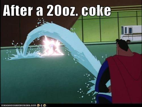 After a 20oz. coke