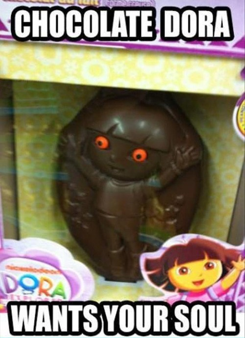wtf,dora the explorer,chocolate
