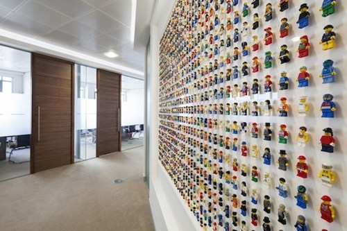 How Cool is 1,200 LEGO Minifigs Decorating Your Office?