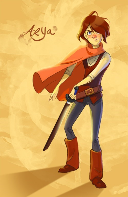 Arya Stark as a Disney Heroine