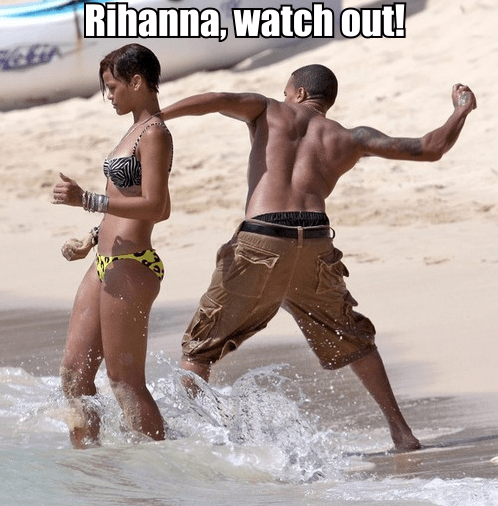 beach,chris brown,rihanna