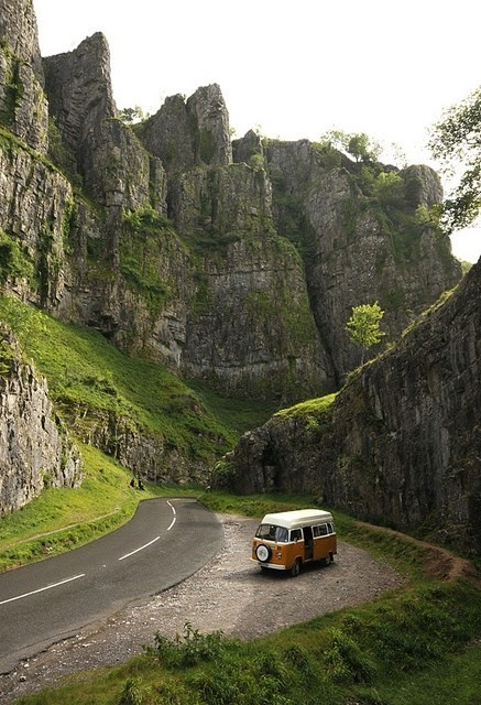Traveling Through Cheddar Gorge, Somerset