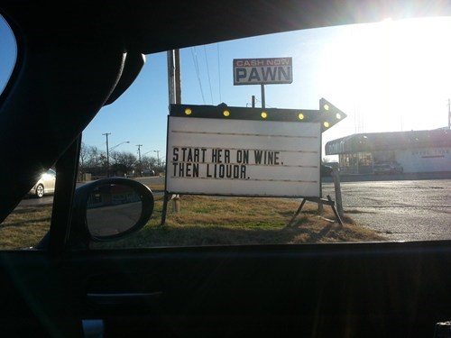 Thanks For the Advice, Liquor Store