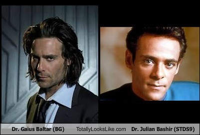 Dr. Gaius Baltar (BG) Totally Looks Like Dr. Julian Bashir (STDS9)