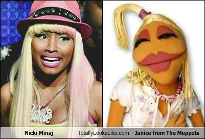 Nicki Minaj Totally Looks Like Janice from The Muppets