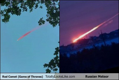 Red Comet (Game of Thrones) Totally Looks Like Russian Meteor