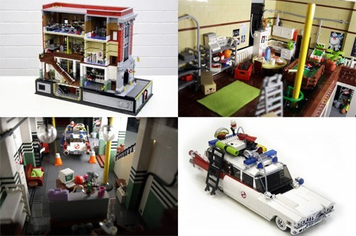 LEGO Craftsmanship of the Day: Ghostbusters HQ