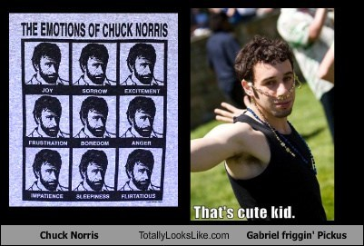 Chuck Norris Totally Looks Like Gabriel friggin' Pickus