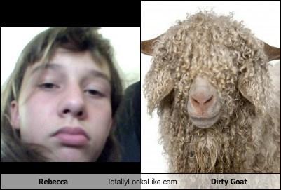 Rebecca Totally Looks Like Dirty Goat