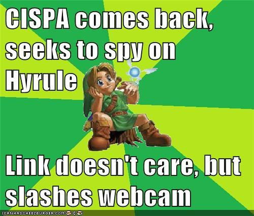 CISPA comes back, seeks to spy on Hyrule  Link doesn't care, but slashes webcam