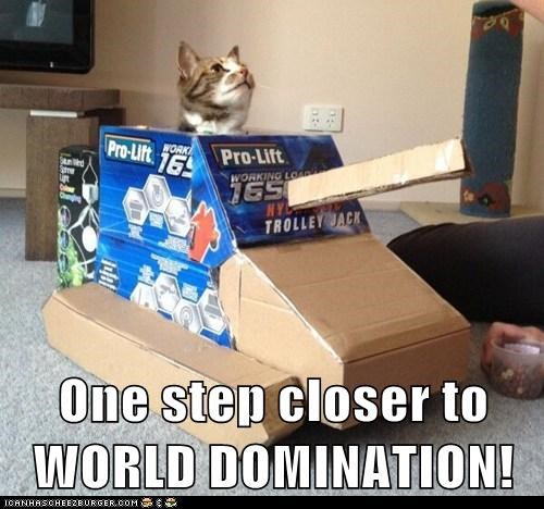One step closer to WORLD DOMINATION!
